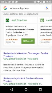seo mobile restaurant geneve