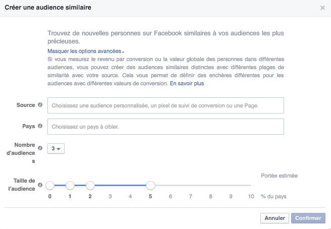 audiences similaires facebook