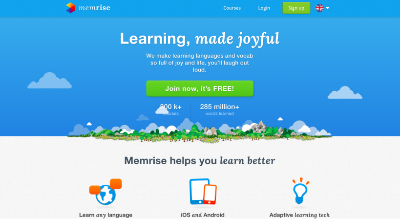 Exemple application Memrise