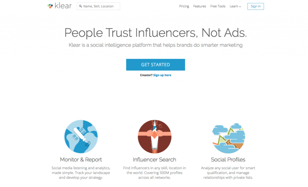 Klear outils marketing influence