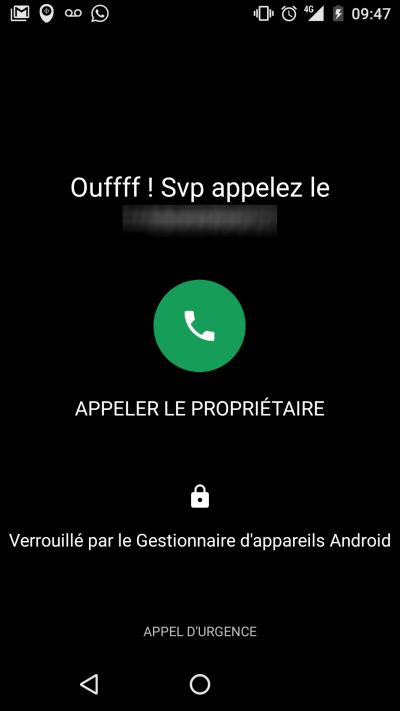 exemple mobile perdu verouillé google